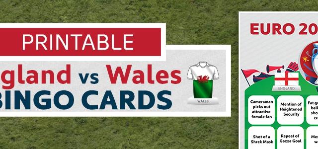 England Vs Wales Bingo