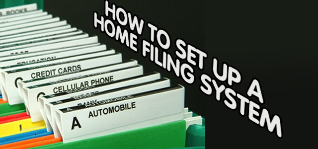 How To Set Up A Home Filing System