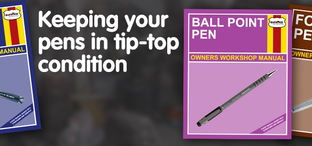 Keeping your Pens in Tip Top Condition