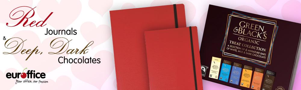 Red Journals And Deep, Dark Chocolates