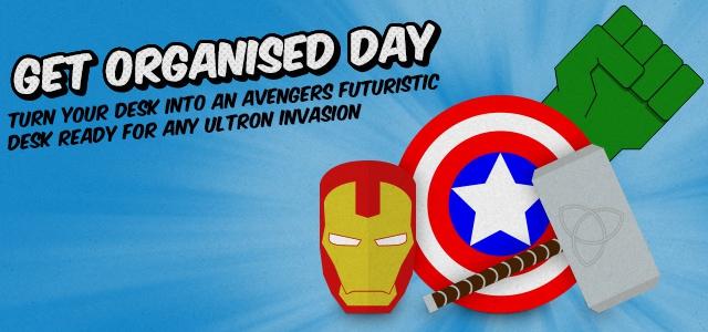 Get Your Avengers Themed Desk Organised
