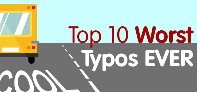 The Top Ten Weirdest and Worst Typos