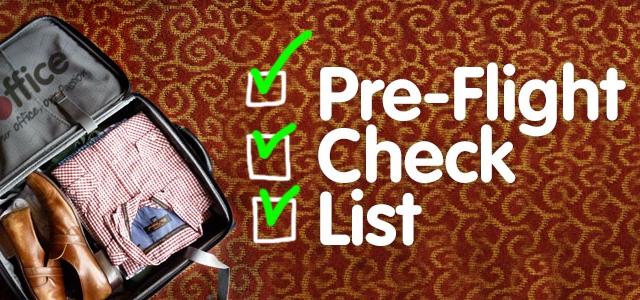 Pre-Flight Check List