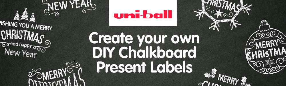 Create your own DIY Chalkboard Present Labels