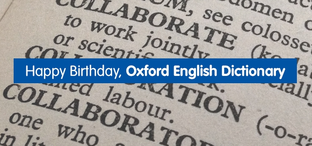 Happy Birthday, Oxford English Dictionary