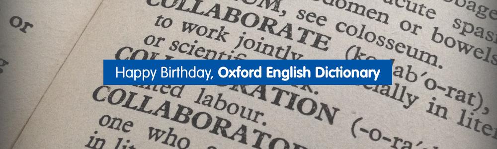 Happy Birthday, Oxford English Dictionary