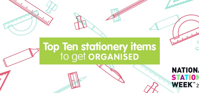 Top 10 Stationery Items To Get Organised