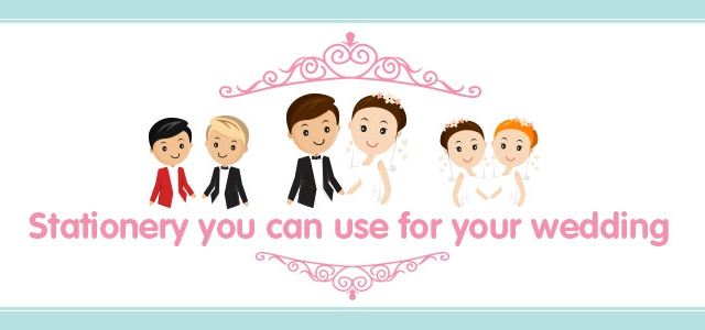 Stationery you can use for your wedding